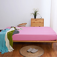 cheap Sheet Sets & Pillowcases-Flat Sheet - Poly / Cotton Printed Solid Colored 1pc Flat Sheet 2pcs Pillowcases