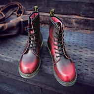 お買い得  紳士靴-男性用 靴 レザー 秋 / 冬 コンバットブーツ ブーツ グレー / Brown / レッド