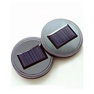 2本のユニバーサルカーアンチスリップマット防水ソーラーカーカーホルダーマットパッドボトルドリンクコースタービルトイン振動&光センサー