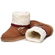 お買い得  子供シューズ-女の子 靴 レザー 冬 フラフライニング スノーブーツ 赤ちゃん用靴 コンフォートシューズ ブーツ ブーティー/アンクルブーツ コンビ タッセル のために パーティー ドレスシューズ ブラック Brown