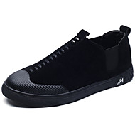 Men's Shoes PU Spring Fall Comfort Light Soles Loafers & Slip-Ons For Casual Gray Black