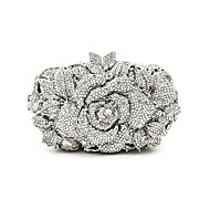 cheap Clutches & Evening Bags-Women's Bags Metal Evening Bag Crystal Detailing for Wedding Event/Party All Seasons Silver