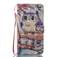 Etui til Apple iPhone 7 plus 7 Case Cover Kort Holder Pung med Stand Flip Pattern Full Body Case 3D Ugle Hard pu læder til 6s 6plus 5s se