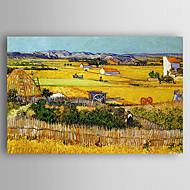 billiga Landskapsmålningar-Hang målad oljemålning HANDMÅLAD - Landskap Samtida Duk