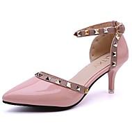 Ženske Cipele PU Ljeto Udobne cipele Cipele na petu Stiletto potpetica Krakova Toe Zakovica Za Formalne prilike Obala Crn Crvena Pink