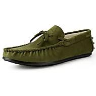 Férfi cipő Fordított bőr Tavasz Ősz Búvárcipő Papucsok & Balerinacipők Csokor Kompatibilitás Hétköznapi Szürke Sárga Barna Zöld Kék