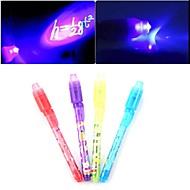 billige Kontor Nødvendigheter-3 stk usynlig blekk penn magisk penn salgsfremmende gaver penner hemmelig skriving 2 i 1 magi usynlig blekk penn sikkerhetsmerke for barn
