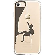 Para iPhone X iPhone 8 Case Tampa Ultra-Fina Transparente Estampada Capa Traseira Capinha Brincadeira Com Logo da Apple Macia PUT para