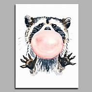 手描きの カートゥン 縦式,アーティスティック 活発的 カトゥーン 誕生日 クール コンテンポラリー オフィス クリスマス 新年 1枚 キャンバス ハング塗装油絵 For ホームデコレーション