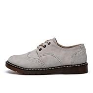 Dames Oxfords Modieuze laarzen Enkellaarsjes Legerlaarzen Herfst Winter Varkensleer Causaal Formeel Donker Grijs Licht Grijs Onder 2,5cm
