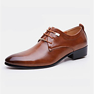 Men's Shoes Leatherette Spring Fall Formal Shoes Oxfords Rivet For Office & Career Party & Evening Brown Black