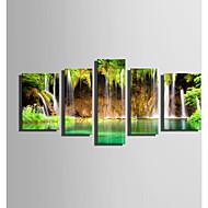 hesapli -Kanvas Baskı Beş Panelli Tuval Dikey Boyama Duvar Dekor Ev dekorasyonu