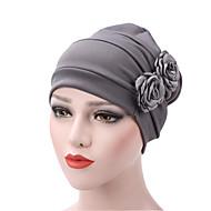 สำหรับผู้หญิง สีพื้น ฝ้าย รอยจีบ, ซึ่งทำงานอยู่ - หมวกปีกกว้าง / ผ้า