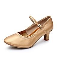 baratos Sapatilhas de Dança-Mulheres Sapatos de Dança Moderna Materiais Customizados Salto Salto Personalizado Personalizável Sapatos de Dança Marron / Prateado