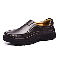 cheap Extended-Size Shoes-Men's Shoes Nappa Leather Leather Spring Fall Comfort Loafers & Slip-Ons Polka Dot for Casual Party & Evening Black Brown
