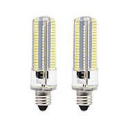 8W Becuri LED Corn 152 SMD 3014 700 lm Alb Cald Alb 3000-3500  6000-6500 K Intensitate Luminoasă Reglabilă AC110 AC220 V 2 buc