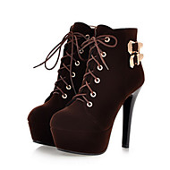 cheap Women's Boots-Women's Shoes Suede Winter Fall Novelty Fashion Boots Bootie Comfort Boots Round Toe Pointed Toe Booties/Ankle Boots Rivet Buckle Lace-up