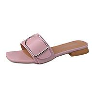 Női Cipő Gumi Nyár Kényelmes Szandálok Gyalogló blokk Heel Kompatibilitás Fehér Fekete Rózsaszín
