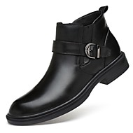 cheap Top Selling-Men's Shoes Cowhide Nappa Leather Leather Fall Winter Combat Boots Bootie Motorcycle Boots Fashion Boots Boots Mid-Calf Boots Booties /