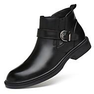 billige -herresko ægte læder cowhide nappa læder efterår vinter mode støvler motorcykel støvler bootie kamp støvler støvler støvletter / ankel