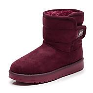 Para Meninas sapatos Tecido Inverno Botas de Neve Botas da Moda Forro de fluff Botas Botas Cano Médio Para Casual Preto Camel Vinho