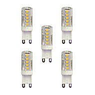 5 pcs 2.5W G9 LED Bi-pin Lights T 33 leds SMD 2835 Warm White White 210lm 3000-3500/6000-6500K AC 220-240V