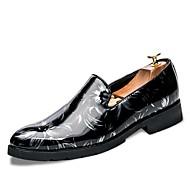 Miehet kengät Tekonahka Kevät Syksy Uutuus Mokkasiinit Split Joint Käyttötarkoitus Kausaliteetti Musta Musta/valkoinen Musta/punainen