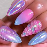 1g regnbue galakse pigment spiker glitter pulver 3d krom holografisk nagel kunst pulver