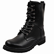 Men's Shoes Leather Fall Winter Cowboy / Western Boots Riding Boots Fashion Boots Combat Boots Boots Booties/Ankle Boots Lace-up For