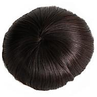 Men's Toupee 7x9 Inch Human Hair Mono Base Hairpiece Hair Replacement System Monofilament Net Base for Men