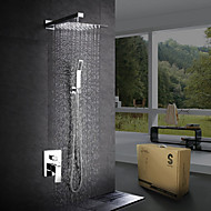 Modern/Contemporary Shower System Rain Shower Handshower Included Ceramic Valve One Hole Chrome , Shower Faucet