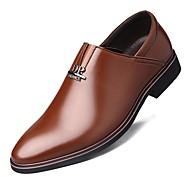 Masculino sapatos Microfibra Primavera Outono Sapatos formais Mocassins e Slip-Ons Tachas Para Festas & Noite Preto Marron