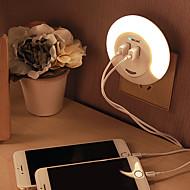 1set Infrarød sensor Lysstyring Opladere LED Night Light-0.5W-AC