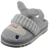 Para Meninos sapatos Veludo Inverno Forro de peles Forro de fluff Chinelos e flip-flops Pom Pom Para Casual Cinzento Azul Marinho Khaki