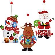 デカール 飾り Snowmen Santa ホリデー クリスマスForホリデーデコレーション