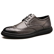 メンズ 靴 PUレザー 秋 冬 コンフォートシューズ スニーカー ウォーキング 編み上げ 用途 カジュアル ブラック グレー