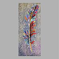 billiga Blom-/växtmålningar-Hang målad oljemålning HANDMÅLAD - Blommig / Botanisk Abstrakt Duk