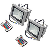 2 stuks hkv® 10w 900-1000 lm rgb waterdicht festoon led floodlight integreer geleid ac85-265v