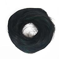 syntetisk ballett hår bun forlengelse donut chigon hairpiece svart farge