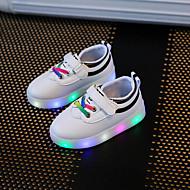Para Meninos sapatos Sintético Verão Outono Conforto Tênis com LED Tênis Elástico Colchete LED Para Casual Festas & Noite Preto Vermelho