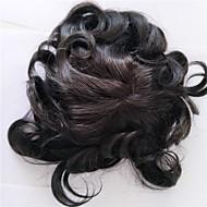 スイスのレースの男性のtoupee人間の髪の自然なヘアライン8 *男性用10inchの1bカラー