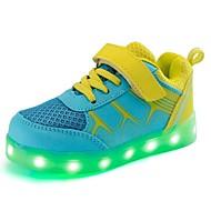 baratos Sapatos de Menino-Para Meninos Sapatos Arrastão / Courino Outono / Inverno Conforto / Tênis com LED Tênis Cadarço / Colchete / LED para Laranja / Amarelo /