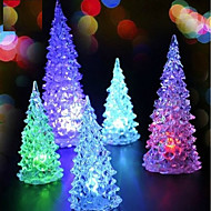 1pcs árvore de natal levou cores mudando luzes casa decoração decoração lâmpada de natal para férias acessórios