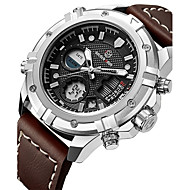 billige Militærur-Herre Quartz Digital Watch / Militærur / Sportsur Japansk Kalender / Kronograf / Vandafvisende / Kreativ / Stor urskive / Punk / Sej /