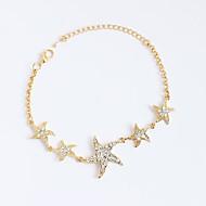 Dámské Dívčí Řetězové & Ploché Náramky Tenisové Náramky imitace drahokamu Přizpůsobeno Štras Slitina Star Shape Šperky Pro Narozeniny