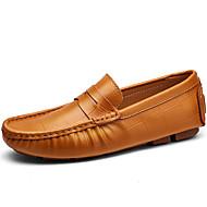 Masculino sapatos Pele Napa Outono Inverno Mocassim Mocassins e Slip-Ons Para Casual Festas & Noite Branco Preto Marron Azul