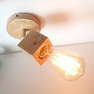 billige Vegglamper-Moderne / Nutidig Vegglamper Tre / Bambus Vegglampe 220-240V / E27