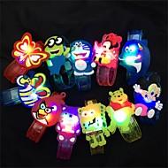 halpa -1kpl sarjakuva eläinten LED-salama säteilevä rannerengas lapset lasten rannekoru rannehihna syntymäpäivä lahja puolue sisustus on