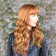 Vrouw Human Hair Capless Pruiken Zwart Honey Blonde medium Auburn Chestnut Brown / Bleach Blonde Lang Golvend