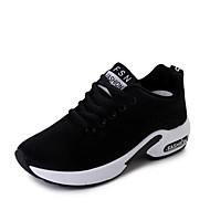 Damă Pantofi PU Vară Confortabili Adidași de Atletism Toc Plat Pentru Negru Gri Roz